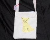Yellow kitty cat purse