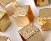 18K Gold Filled Light Little Cubes