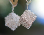 Square Silver wire wrapped Earrings