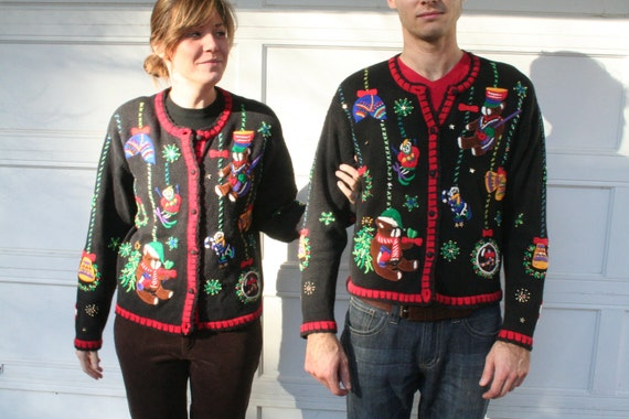 Ugly Christmas Sweater Cardigans (MATCHING SET)