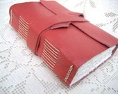 Handmade Blank Book for the Writer or Artist - Deep Rose Leather