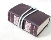 Weave - Wee Chunky Book - Handmade - Lavender Lilac Leather