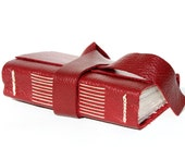 Graduation Gift - Handmade Leather Journal or Sketchbook - Deep Red