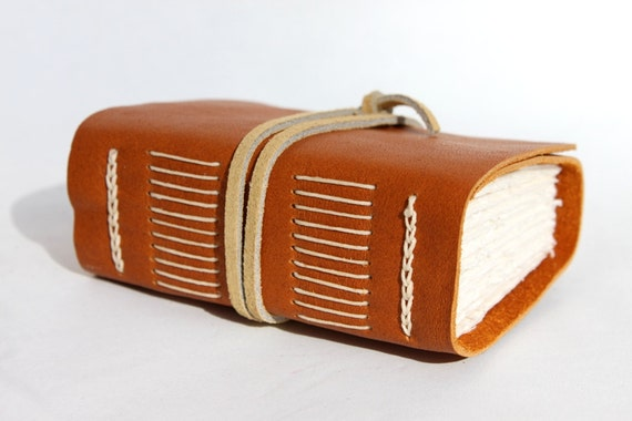 Handmade Leather Journal - Wee Chunky Book - Oscar