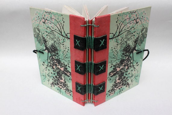 Eco Friendly Journal or Sketchbook from Recycled Vintage Book Covers - Rebound Upcycled - Abstract - Handmade