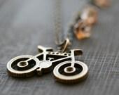 Bicycle Necklace, Bike Jewelry, Bike  Necklace, Eco Transport, Flower, Bike Pendant Necklace, Bike Jewelry,  Whimsical Jewelry -  BIKE