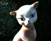 VINTAGE - ceramic Siamese cat statue 50s