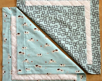 Small Baby Blankets- Sherbet Pips Boy in Blue