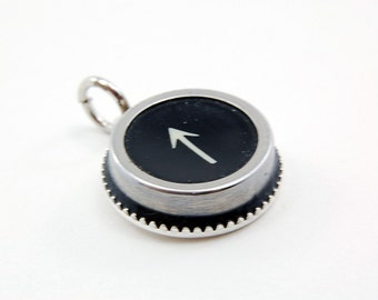 Vintage Typewriter Key Pendant Necklace - ARROW - Other Letter and Numbers Available GDJ