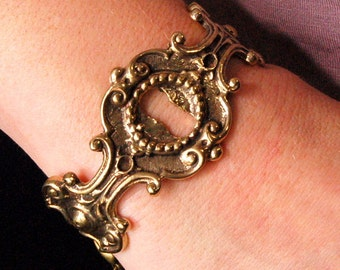 Two for One Sale....Keyhole Bracelet Bronze Cuff -  Gwen Delicious Jewelry Design