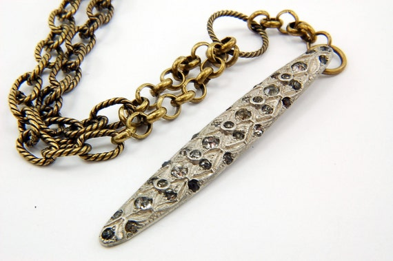 Vintage Art Deco Dress Clip Crystal Necklace - Estate Collection Number 2 - Gwen Delicious Jewelry Design GDJ