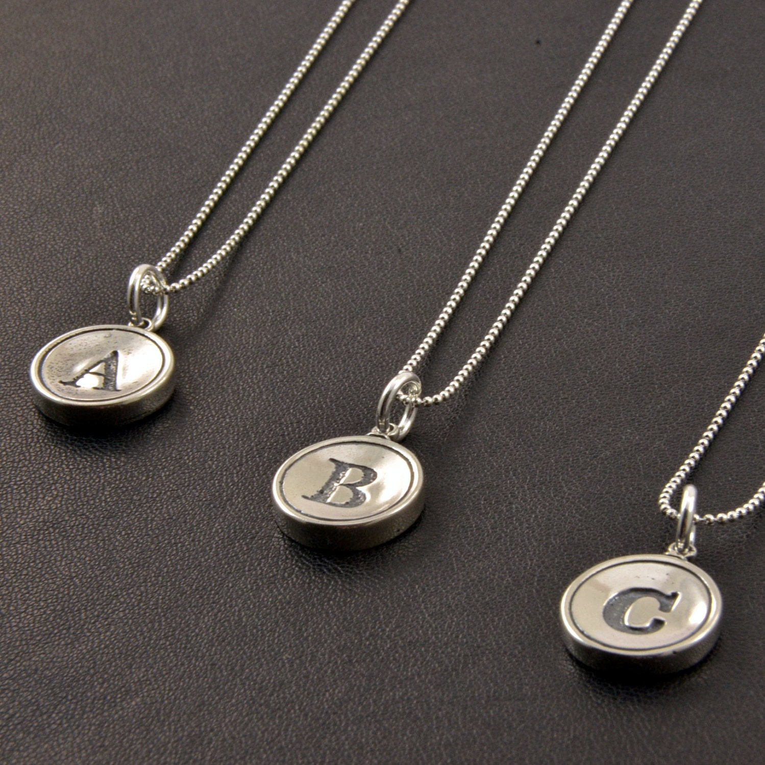 personalized jewelry sterling silver initial necklace