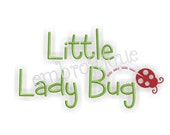 Little Lady Bug Spring - Instant Email Delivery Download Machine embroidery design