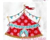 Big Top Circus Tent Applique-Digital Download- Machine Embroidery Applique