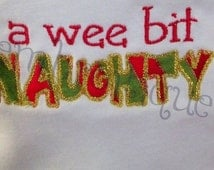 A Wee Bit Naughty - Raw Edge and Satin Stitch- Instant Email Delivery Download Machine embroidery design
