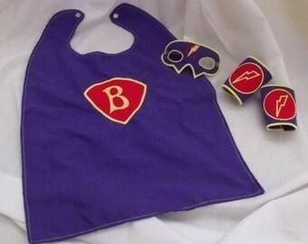 Super Hero Set - Mask, Cuffs, Cape, Lightening Bolt, & Applique Alphabet-Instant Download -Digital Machine Embroidery Design