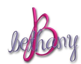 Bethany Monogram Set-Instant Download -Digital Machine Embroidery Design