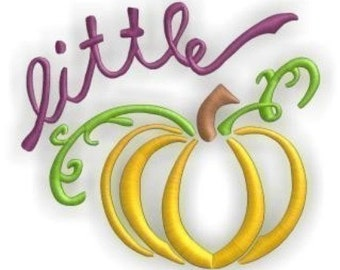 Little Pumpkin- Instant Email Delivery Download Machine embroidery design