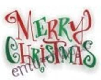 Merry Christmas - Instant Email Delivery Download Machine embroidery design