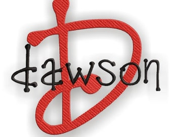 Dawson Monogram Set- Machine Embroidery Font Alphabet Letters  - Instant Email Delivery Download Machine embroidery design