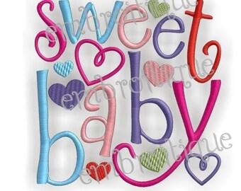 Sweet Baby Love Valentine's Day Design- Instant Download -Digital Machine Embroidery Design
