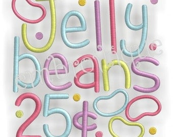 Jelly Beans Block Great for Easter and All Year Round- Instant Download -Digital Machine Embroidery Design