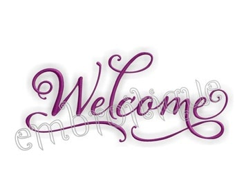 Elegant Welcome Home Decor- Instant Email Delivery Download Machine embroidery design