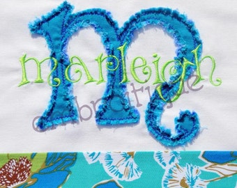 Marleigh Raw Edge Applique Monogam Set- Instant Email Delivery Download Machine embroidery design