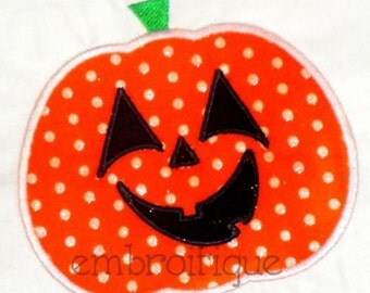 Jack-o-Lantern Pumpkin Halloween- Instant Email Delivery Download Machine embroidery design