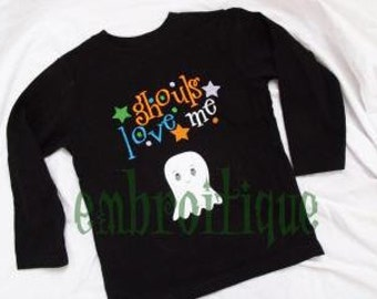 Ghouls Love Me Halloween Embroidery Design - Great for Boys- Instant Download Adorable Funny Boy designs