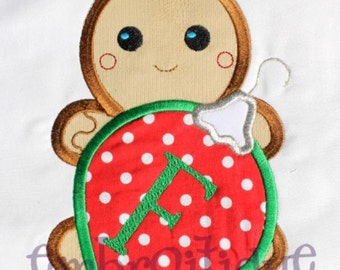 Mr. Fred bread - Ginger Breads hubby - Gingerbread boy with Ornament- Instant Email Delivery Download Machine embroidery design