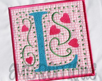 LOVE YOU Applique Block Set- Instant Email Delivery Download Machine embroidery design