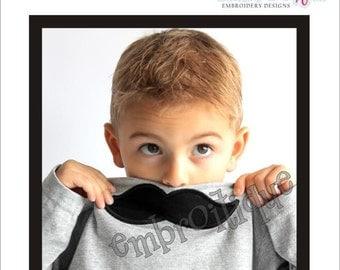Boy Mustache Little Man Mister Applique- -Instant Download Digital Files for Machine Embroidery