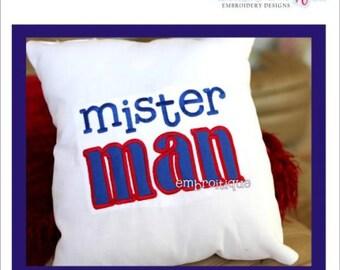 Mister Man Big Boy Applique Sibling - Instant Download -Digital Machine Embroidery Design