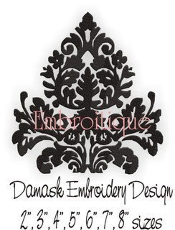 Damask Single - Instant Email Delivery Download Machine embroidery design