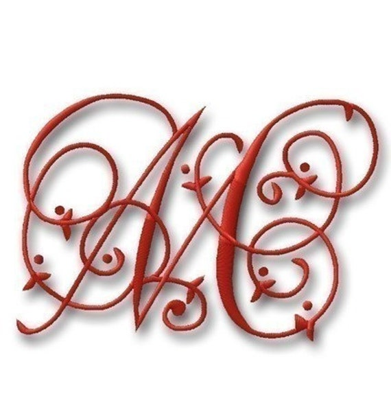 """Maisie Monogram Font Set - 2"""" & 3""""- - Machine Embroidery Font Alphabet Letters  - Instant Email Delivery Download Machine embroidery design"""