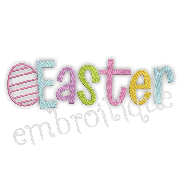 Easter Word With Egg- Instant Email Delivery Download Machine embroidery design