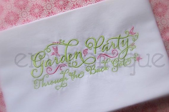 Garden Party Spring Summer - Instant Email Delivery Download Machine embroidery design
