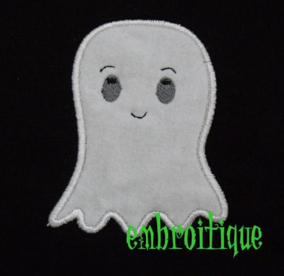 Halloween Sammie Spook Ghost Applique Design- Instant Email Delivery Download Machine embroidery design