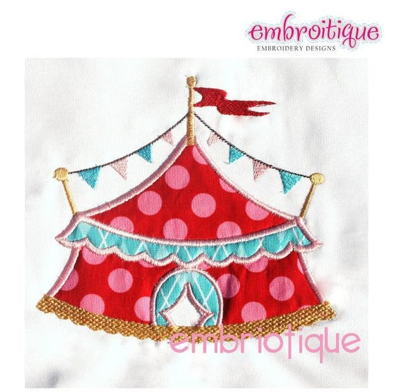 Big Top Circus Tent Applique-Digital Download- Machine Embroidery Applique