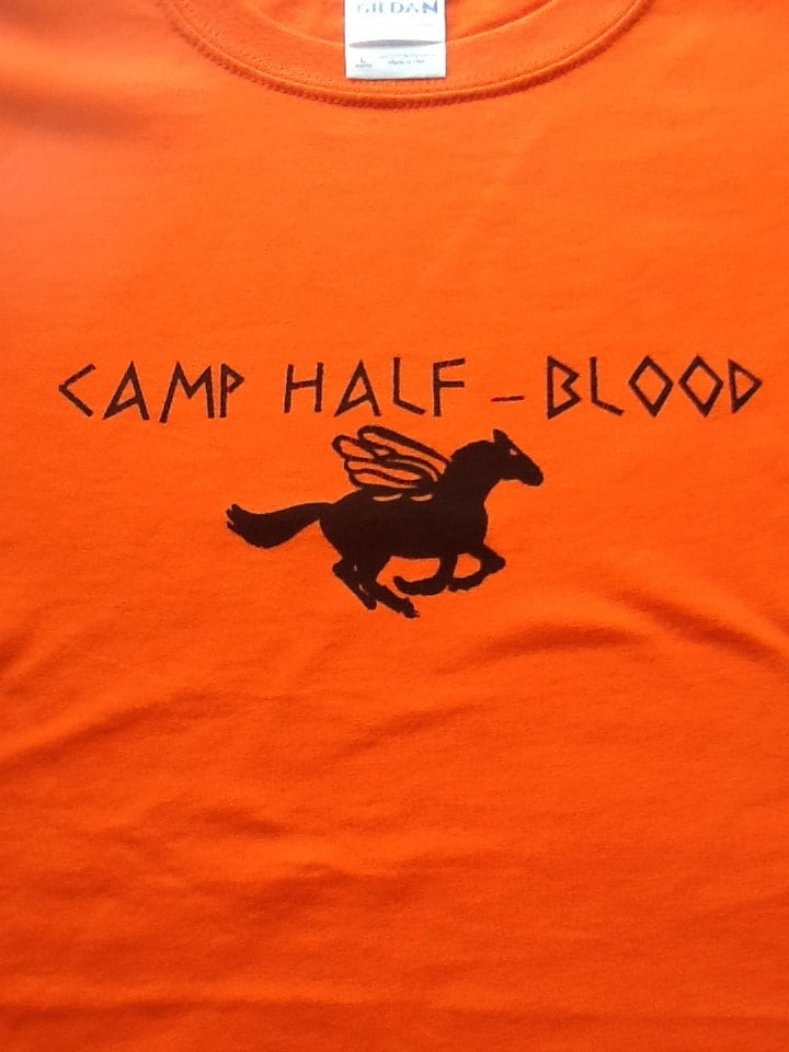 Original youth camp half blood t shirt children s by ttcouture