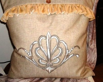 French Scroll II Pillow Slipcover