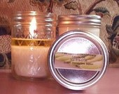 Hand poured scented Soy Wax 8 oz. Candles (Honeydew Melon)