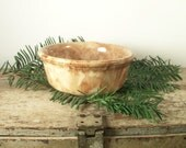 Vintage Bennington Pottery Bowl - Mottled Yellow and Brown