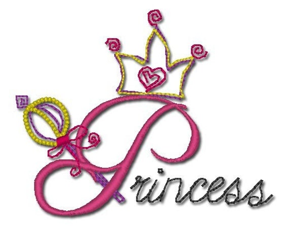 Princess Font Alphabet embroidery designs by oradesigns on Etsy
