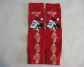 Red Mickey Mouse Leg Warmers