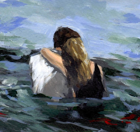 Capsized . giclee art print of painting