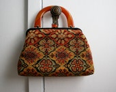 Vintage 1950s Purse Carpet Bag Frame