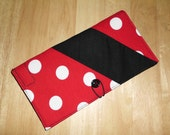 MINNIE MOUSE THEME Red w/White Polka Dots Check Book Cover, Wallet, Credit Card Holder and Money Holder
