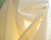 Vintage Sunshine Yellow Dotted Swiss . . . 3 yards X 44 inches